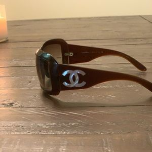 CHANEL Accessories - Mother of Pearl CC Chanel sunglasses
